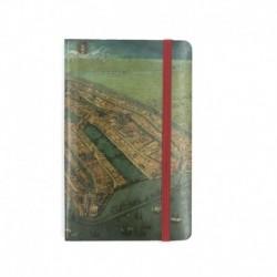 Carnet note A6 Harta Amsterdamului de Cornelis Anthonisz