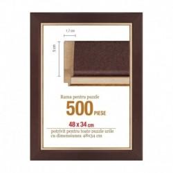 Rama puzzle 500 p.maron striat-groasa 5xh1.7- 48 x 34 cm