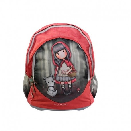 Ghiozdan ergonomic baza rigida Gorjuss Little Red Riding Hood