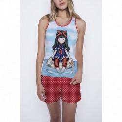 Pijama dama Gorjuss Little Fishes scurta
