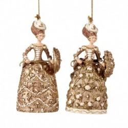 Aristocrata decorativa cu umbrela auriu 12 cm