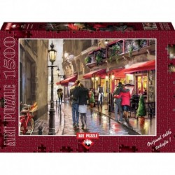 Puzzle 1500 piese Nightime Cafe - RICHARD MACNEIL