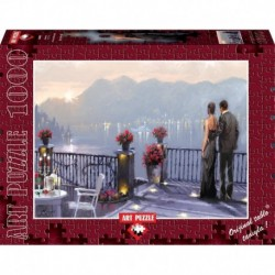 Puzzle 1000 piese - Lake Cafe - RICHARD MACNEIL