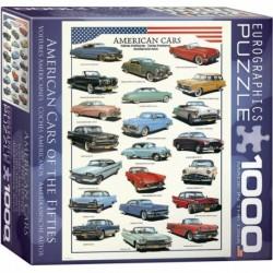 Puzzle 1000 piese - Masini Americane din 1950