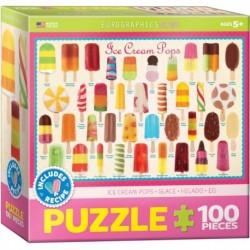Puzzle 100 piese Ice Cream Pops