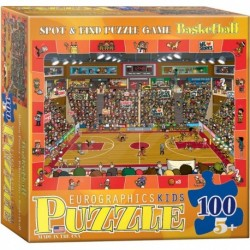 Puzzle 100 piese Spot & Find Basketball