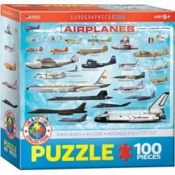 Puzzle 100 piese Airplanes