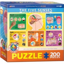 Puzzle 200 piese The Five Senses