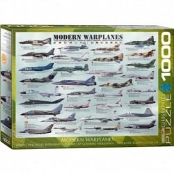 Puzzle 1000 piese Modern Warplanes (mare)