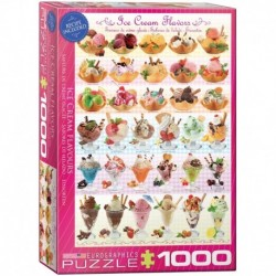 Puzzle 1000 piese Ice Cream Flavours