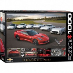 Puzzle 1000 piese 2014 Corvette Stingray: It Runs in the Family