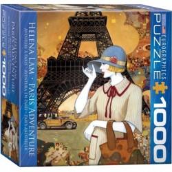 Puzzle 1000 piese Paris Adventure Helena Lam (mic)