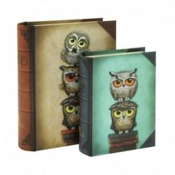 Set 2 cutii tip carte Santoro Book Owls