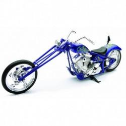 Motocicleta diecast tip Chopper, albastru