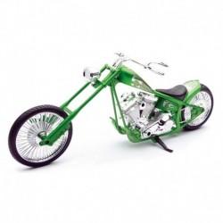 Motocicleta diecast tip Chopper, verde