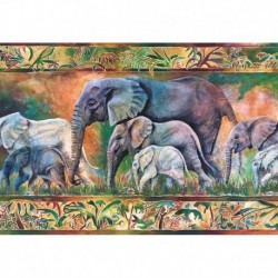Puzzle 1000 piese Castorland Parada elefantilor
