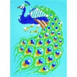 Sequin art-set creativ cu paiete si margele model Paun