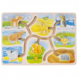 Labirint din lemn Casutele animalelor