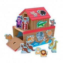 Set de joaca din lemn Arca lui Noe Melissa and Doug