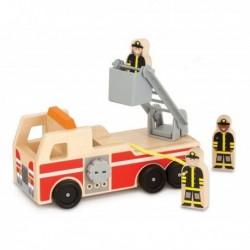 Masinuta de pompieri din lemn