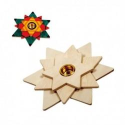 Suport lumanare de decorat Star - Beleduc
