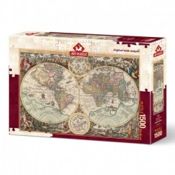 Puzzle 1500 piese - World Map-ALBERTO ROSSINI