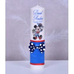 Lumanare de botez personalizata Mickey Mouse