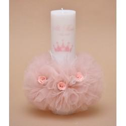 Lumanare de botez personalizata Princess