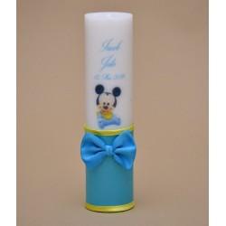 Lumanare de botez personalizata Mickey Bebelus